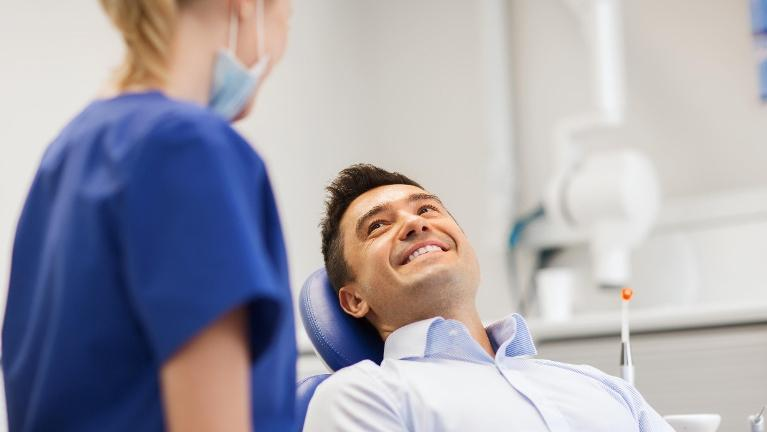 Man at Dentist | New Lynn New Zealand Dentist